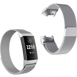 POSH TECH Stainless Steel Band for Fitbit Charge 3